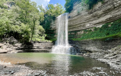 Fancher Falls Waterfall on Center Hill Lake   Tennessee
